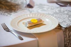 Party Favors at a Wedding Reception Stock Photos
