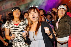 Party-Feiernder an Stadt lebendiges 2010 Lizenzfreies Stockbild