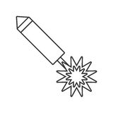 Party firecracker icon design Stock Photo