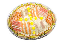 Party fish salad Royalty Free Stock Images