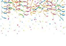 Party flâmulas e Confetti Fotos de Stock Royalty Free