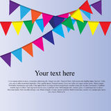 Party flag background Royalty Free Stock Photography