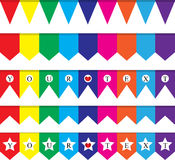 Party flag background Royalty Free Stock Photos