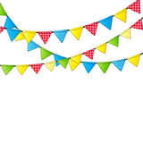 Party Flag Background Vector Illustration. Stock Image