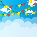 Party Flag Background Vector Illustration. Royalty Free Stock Photos