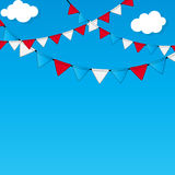 Party Flag Background Vector Illustration Stock Photography