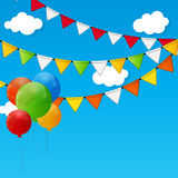 Party Flag Background Vector Illustration. Royalty Free Stock Photo