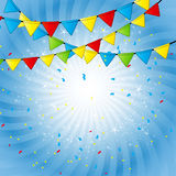 Party Flag Background Vector Illustration. Royalty Free Stock Image