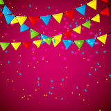 Party Flag Background Vector Illustration. Stock Photo