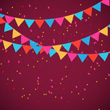 Party Flag Background Vector Illustration Royalty Free Stock Photos