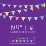 Party Flag Royalty Free Stock Photography
