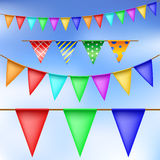 Party flag set Stock Images