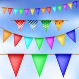 Party flag set vector illustration