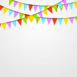 Party flags celebrate bright abstract background Royalty Free Stock Photos
