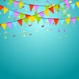 Party Flags Colorful Celebrate Abstract Background Stock Image