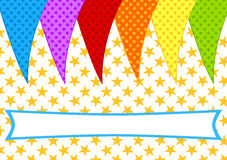 Party Flags invitation card Stock Photos