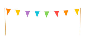 Party flags isolated on a white background Stock Photo