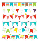 Party flags and pennants isolated Royalty Free Stock Images