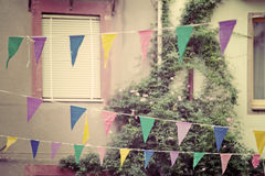 Party flags in vintage tone Stock Images