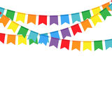 Party flags on a white background Royalty Free Stock Photos