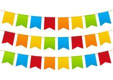 Party flags on white Stock Photos