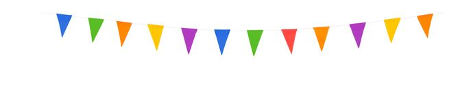 Party flags xl isolated on a white background royalty free stock photos