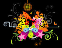 Party floral vector. Abstract party floral vector illustration Vector Illustration