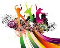 Party-Flugblathintergrund Abbildung-Disco Lizenzfreies Stockbild