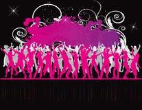 Party-Flugblathintergrund Abbildung-Disco Stockfoto