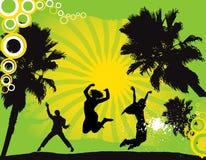 Party-Flugblathintergrund Abbildung-Disco Lizenzfreie Stockfotos