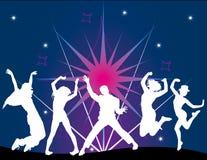 Party-Flugblathintergrund Abbildung-Retro- Disco Stockfoto