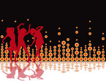 Party-Flugblathintergrund Abbildung-Retro- Disco Lizenzfreies Stockfoto