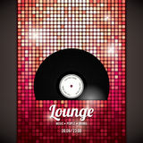 Party flyer. With abstract background Royalty Free Stock Images