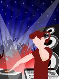 Party flyer. With girls and peoples dancing Royalty Free Stock Image