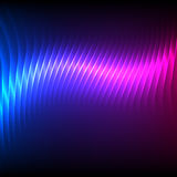 Party-flyer-background-bright-blue-purple. Modern design blue pink abstract background of bright glowing blur wave lines. Vector illustration Eps 10. Futuristic Stock Photo