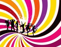 Party Flyer background Illustration Disco. Tango Dance blue pink red orange points royalty free illustration