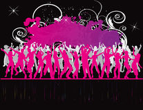 Party Flyer background Illustration Disco. Tango Dance pink red points stock illustration