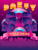 Party flyer card. Party flyer. card.  illustration Royalty Free Stock Image