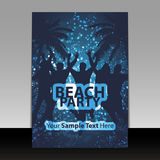 Party Flyer or Cover Design Stock Photos