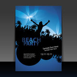 Party Flyer or Cover Design Royalty Free Stock Photos