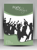 Party Flyer design. Vector Illustration. royalty free illustration