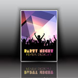 Party flyer. Layout design for a party flyer Stock Images