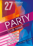 Party Flyer. Nightclub Flyer. Royalty Free Stock Photo
