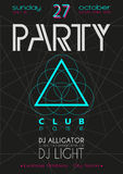 Party Flyer. Nightclub Flyer. Royalty Free Stock Image