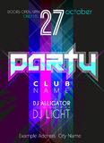 Party Flyer. Nightclub Flyer. Royalty Free Stock Images