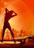 Party Flyer Orange Stock Image