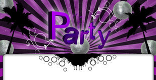 The Party Flyer Pink. Party Flyer Music Illustration, Lounge Music Royalty Free Stock Images