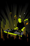 Party flyer or poster with a dj. Party poster, modern and cool composition vector illustration
