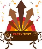 Party flyer template. With turnatble and tones Stock Photo