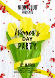 Party flyer for Women`s Day Royalty Free Stock Photography